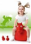 Игрушка детская-попрыгунчик «ВЕСЁЛАЯ ЛОШАДКА» красная BRADEX