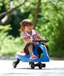 Машинка детская с полиуретановыми колесами синяя «БИБИКАР» BRADEX