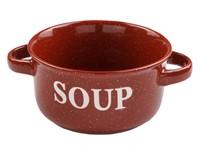 Миска керамическая, 134 мм, Для супа, бордо, PERFECTO LINEA