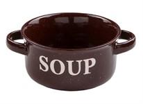 Миска керамическая, 134 мм, Для супа, коричневая, PERFECTO LINEA