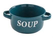 Миска керамическая, 134 мм, Для супа, синяя, PERFECTO LINEA