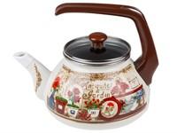 Чайник стальной эмалированный, 2.2 л, серия Антик, PERFECTO LINEA (подходит для всех типов плит, включая индукцию)