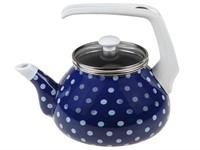 Чайник стальной эмалированный, 2.2 л, серия Горошек, PERFECTO LINEA (подходит для всех типов плит, включая индукцию)