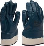Перчатки рабочие джерси, нитриловое покрытие, манжета: крага, разм.10, синие KERN