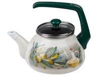 Чайник стальной эмалированный, 2.2 л, серия Олива (подходит для всех типов плит, включая индукцию)