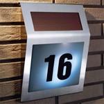 Указатель номера дома с подсветкой и солнечной батареей «МОЙ ДОМ» BRADEX