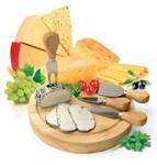 Набор для резки сыра из 4-х приборов и деревянной доски «РОКФОР»