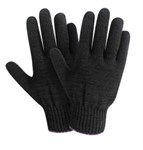 Перчатки х/б трикотажные 10класс (черные) РБ (34гр)