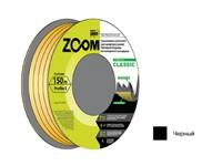 """Уплотнитель """"E"""" черный, 9х4 мм, 150 метров, ZOOM"""
