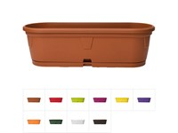 Ящик балконный для цветов Gerber, 35x12,5 см с поддоном, DRINA (цвета в ассортименте)