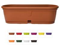 Ящик балконный для цветов Gerber 50x15 см с поддоном, DRINA (цвета в ассортименте)