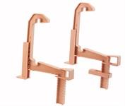 Крепление для балконых ящиков универсальное 2 шт., белая глина, IDEA