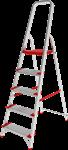 Лестница-стремянка алюм. проф с широкой ступенью 81 см, 4 ступени, 4,1 кг. NV500 Новая Высота (макс. нагрузка 225 кг)