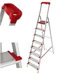Лестница-стремянка алюм. проф 169 см, 8 ступеней, 8,2 кг. NV500 Новая Высота (с лотком-органайзером, макс. нагрузка 225 кг)