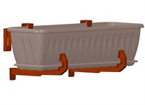 Крепление для балконых ящиков универсальное 2 шт, терракотовый. IDEA
