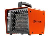 Тепловентилятор электрический Ecoterm EHC-02/1D, 2 кBт нагрев до 98 м3, Керамический элемент