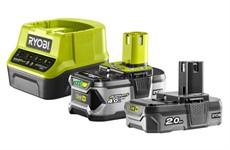 Аккумуляторы с зарядным устройством RYOBI RC18120-242 (2,0-4,0 Ач, 18 В)