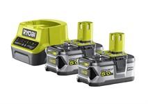 Аккумуляторы с зарядным устройством RYOBI RC18120-250 (5,0 Ач, 18 В)