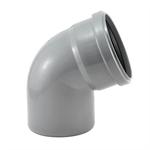 Колено  (отвод) для внутренней канализации 110х67,5 РосТурПласт