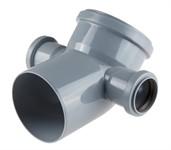 Колено (отвод) для внутренней канализации 110/50/50х45 мм, левый/правый, РосТурПласт