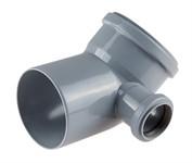 Колено (отвод) для внутренней канализации 110/50х45 правый РосТурПласт