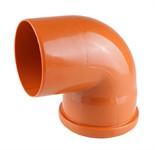 Колено (отвод) для наружной канализации 110х87 РосТурПласт
