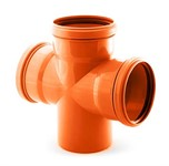 Крестовина для наружной канализации 110/110/110 х87 РосТурПласт
