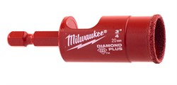 Коронка алмазная для керамогранита MILWAUKEE DIAMOND PLUS 20 мм