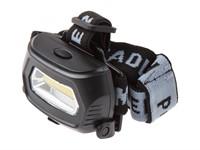 Фонарь налобный светодиодный аккумуляторный 3 Вт (USB-кабель), ЮПИТЕР