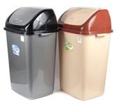 Ведро 50 литров для мусора пластмассовое с откидной крышкой