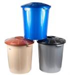 Ведро (бак) 50 литров для мусора пластмассовое с крышкой
