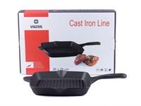 Сковорода-гриль 26*26 см чугунная Cast Iron, VINZER