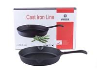 Сковорода 25,5*4,5 см чугунная Cast Iron, VINZER