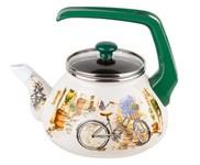 Чайник стальной эмалированный, 2.2 л, серия Прованс, PERFECTO LINEA (подходит для всех типов плит, включая индукцию)