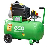 Компрессор ECO AE-501-3 (260 л/мин, 8 атм, коаксиальный, масляный, ресив. 50 л, 220 В, 1.80 кВт)