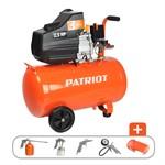 Компрессор PATRIOT EURO 50-260K + набор пневиоинструмента KIT 5В  (260 л/мин, 8 атм, поршневой, масляный, ресив. 50 л, 220 В, 1,8 кВт)