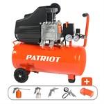 Компрессор PATRIOT EURO 24-240K + набор пневиоинструмента KIT 5В  (240 л/мин, 8 атм, поршневой, масляный, ресив. 24 л, 220 В, 1,5 кВт)