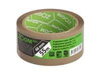 Скотч упаковочный коричневый 48 мм х 55 метров, ZOOM