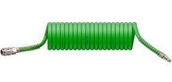 Шланг полиурет. спиральный ф 8/12 мм c быстросъемн. соед. ECO (длина 5 м)