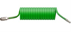 Шланг полиэт. спиральный ф 6,5/10 мм с быстросъемн. соед. ECO (длина 5 м)