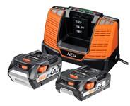 Набор AEG SET LL 18X02 BL2 (2 и 4 Ач, 18 B) с зарядным и сумкой