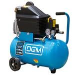 Компрессор DGM AC-127 (235 л/мин, 8 атм, коаксиальный, масляный, ресив. 24 л, 220 В, 1.50 кВт)