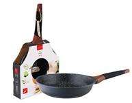 Сковорода 20*5 см алюминиевая антипригарная с мраморным покрытием, Greblon Induction, VINZER