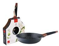 Сковорода 26*6 см алюминиевая антипригарная с мраморным покрытием Greblon Induction,VINZER