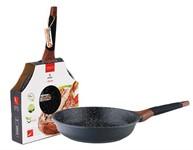 Сковорода 24*5,5 см алюминиевая антипригарная с мраморным покрытием, Greblon Induction, VINZER