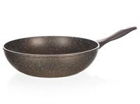 Сковорода 28*7,8 см алюминиевая антипригарная с гранитной крошкой Granite Dark Brown Wok, BANQUET