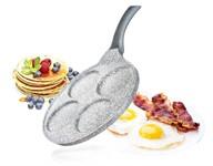 Сковорода-блинница 26 см*3,5/4 алюминиевая антипригарная с гранитной крошкой Granite Grey, BANQUET