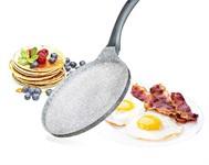 Сковорода-блинница 26*3,5 см алюминиевая антипригарная с гранитной крошкой Granite Grey, BANQUET