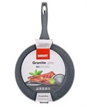 Сковорода 28*5,3 см алюминиевая антипригарная с гранитной крошкой Granite Grey, BANQUET