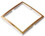 Вставка в рамку одноместная BYLECTRICA Уют золотая, 3 штуки